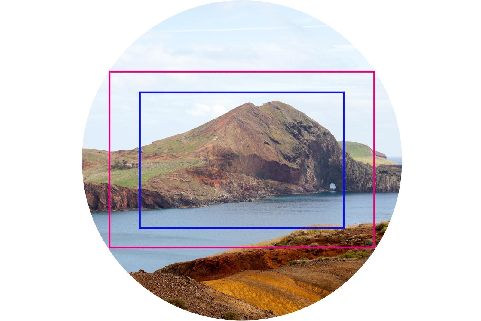 Cropfactor voorbeeld full frame en crop frame lens