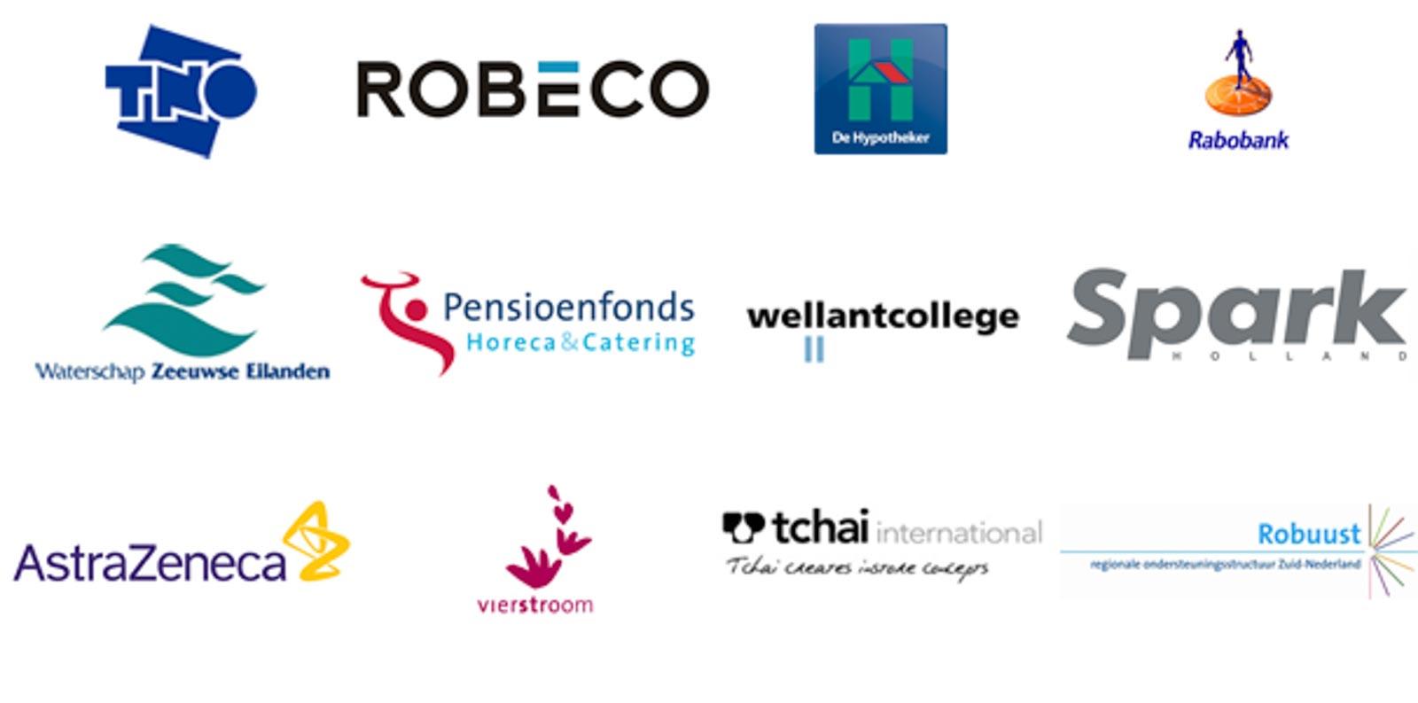 Verzameling logo's bedrijfsuitjes fotografie